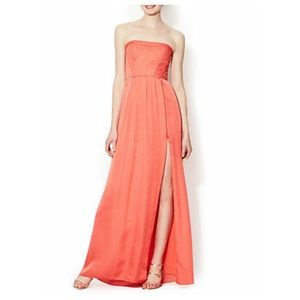 BCBG coral floor length dress